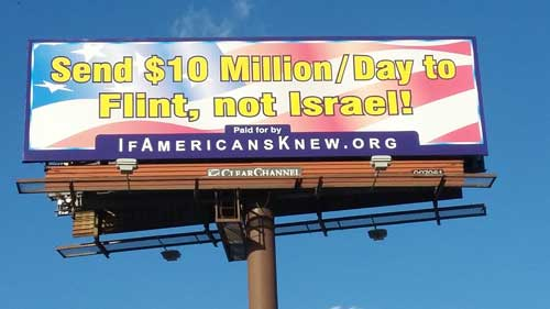 Send $10 Million a day to Flint, not Israel!